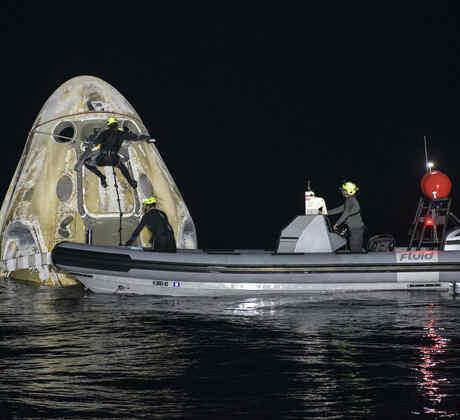 Aterrizaje de una nave de SpaceX