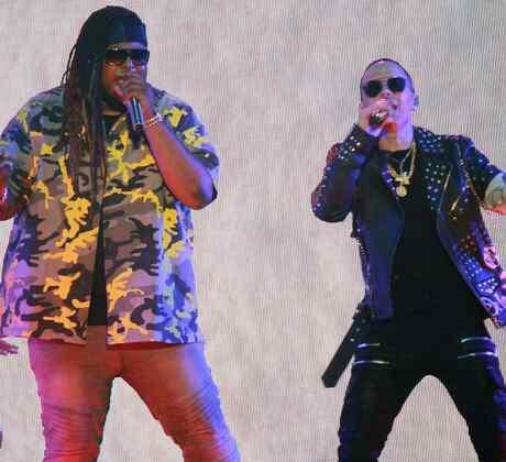 Yandel y Lennox en el escenario