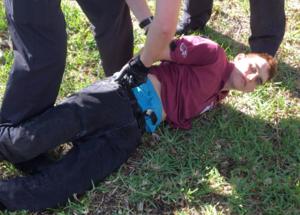 Nikolas Cruz, en el momento de su arresto tras la matanza en Florida.