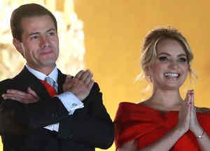 Angélica Rivera y el expresidente de México, Enrique Peña Nieto