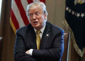 Trump, este jueves en la Casa Blanca.