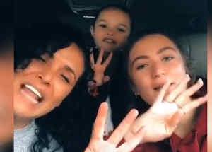 Mayra Rojas con su hija Ivanna, de 17 años, y su sobrina Luciana, de 6.