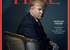 Donald Trump en la portada de la revista Time, como personaje del año 2016
