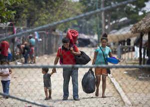 Indocumentados en la frontera