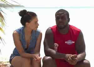 Jessica Cediel y José Gumbs hablando después de la eliminación