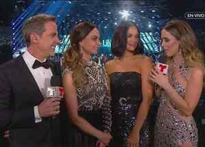 Lupita Jones y Denise Quiñones con Carlos Ponce y Jacky Bracamontes en Celebrando la Corona de Miss Universo 2019