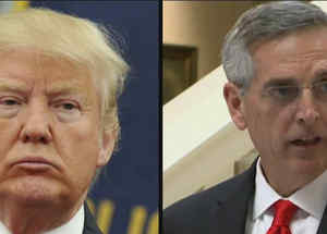 Trump y Brad Raffensperger