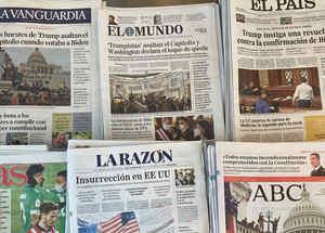 El asalto al Capitolio acapara la atención de la prensa internacional