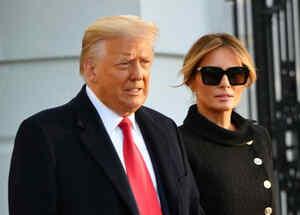 Donald Trump y su esposa Melania