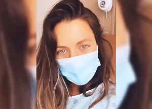Ximena Duque en el hospital