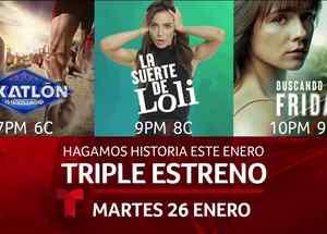 Telemundo estrena Exatlón, La suerte de Loli y Frida