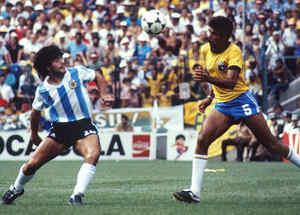 Maradona en mundial de 1982
