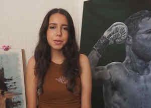 'Canelo' Álvarez compra un cuadro para ayudar a artista