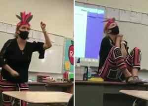 Suspenden maestra por imitar indígenas en California