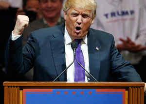 El precandidato republicano Donald Trump se dirige a sus partidarios en Las Vegas, Nevada el martes 23 de Febrero del 2016