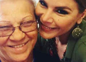 Olga Tañón y su mamá