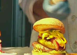 hamburguesas de clinton y trump