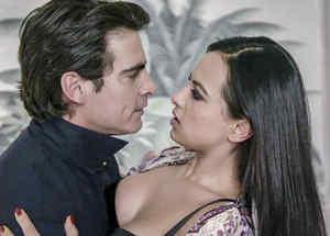 Luis Geronimo Abreu y Julieta Grajales en El Chema