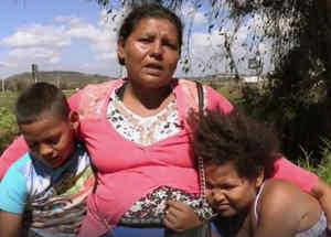Migrante hondureña