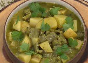Nápoles en salsa verde