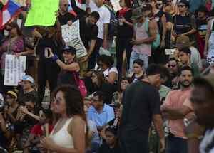 Manifestaciones en Puerto Rico en contra del gobernador Ricardo Rosselló