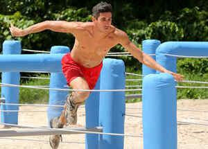 José Carlos Herrera corriendo con los ojos cerrados