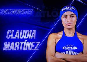 Claudia Martínez en cartel de presentación