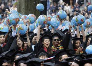 Estudiantes de Harvard.