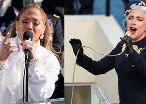 Jlo y Lady Gaga en inauguración presidencial de  Joe Biden