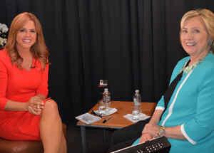 La precandidata demócrata Hillary Clinton en entrevista EXCLUSIVA con Maria Celeste Arrarás el sábado 3 de Octubre del 2015 en Miami, Florida