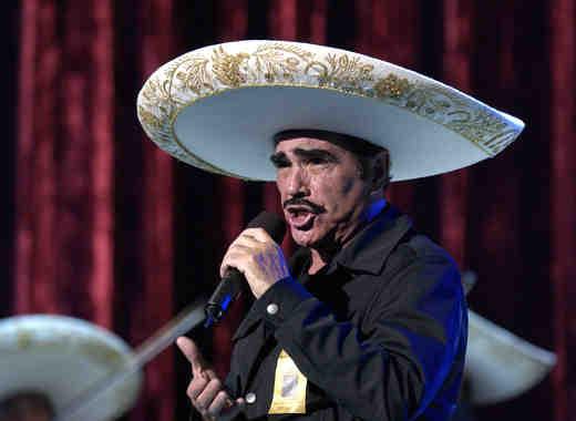 Vicente Fernandez At Latin Grammy Awards Rehearsals