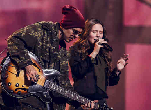Jesse y Joy ensayos Latin American Music Awards 2016